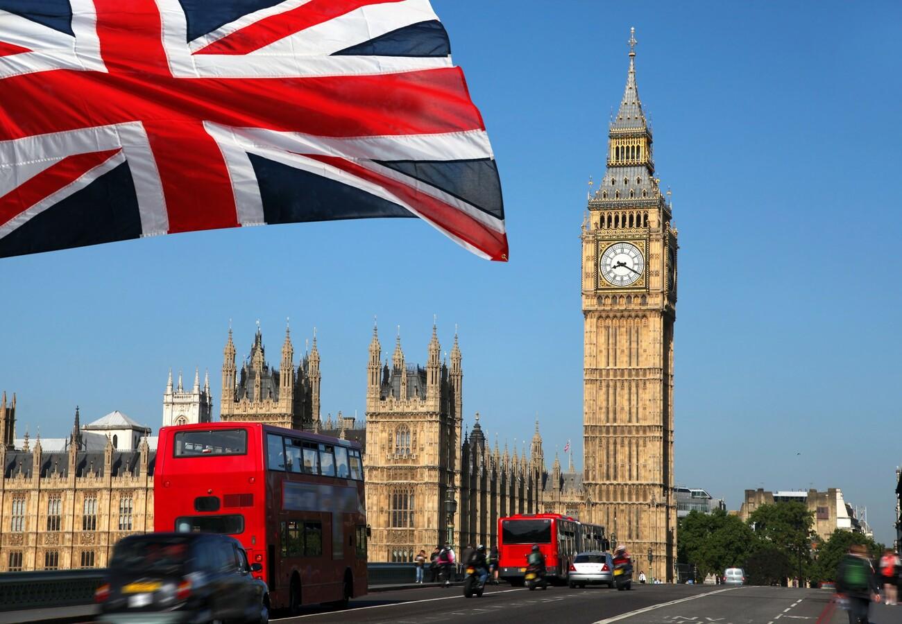 Parlament i Big Ben, London avionom