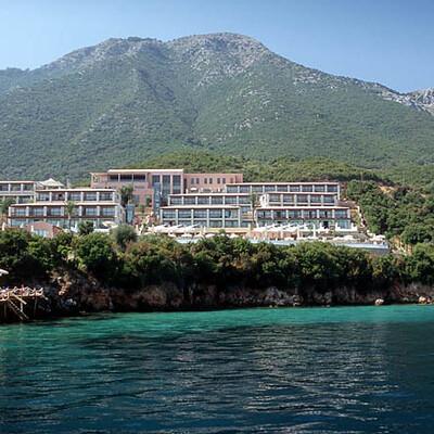 Lefkas grčka ponuda hotela, Hotel Ionian Blue, pogled na hotel
