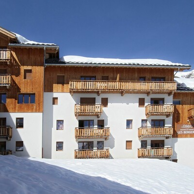 Residence Les Bergers, pogled na apartmane, skijanje Francuska