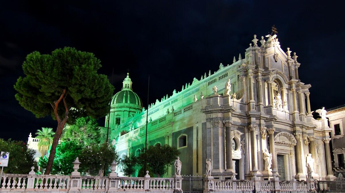 Katedrala Catania, sicilija putovanje posebnim zrakoplovom