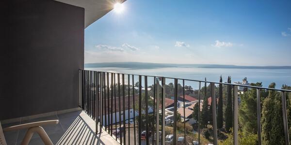 Crikvenica, Hotel Ad Turres, superior, pogled more