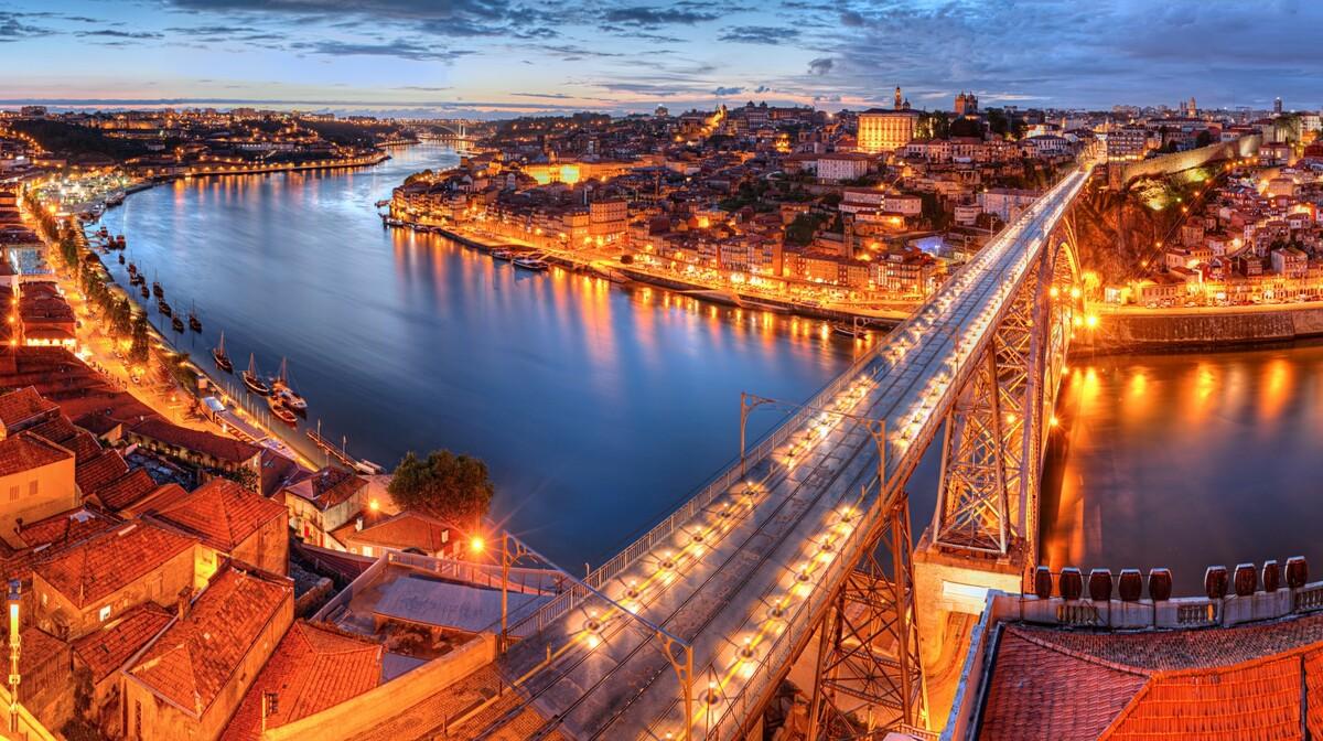Porto, Most Dom Luis I, putovanje Lisabon i Porto