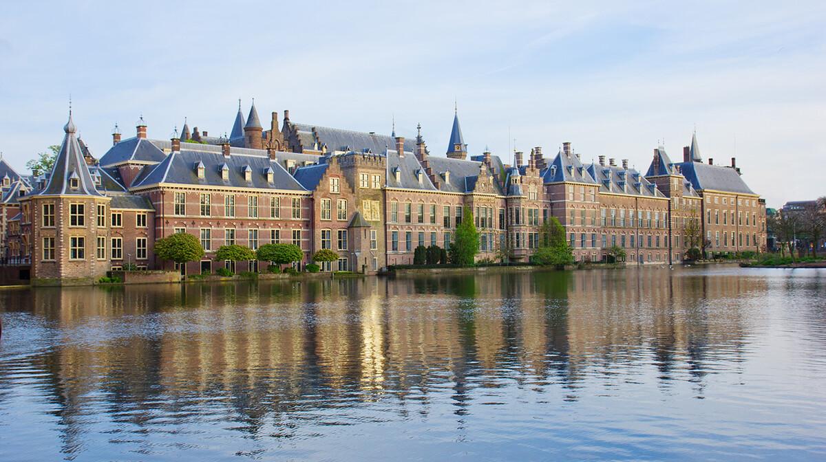Zgrada nizozemskog parlamenta u Den Haagu, putovanje u Nizozemsku