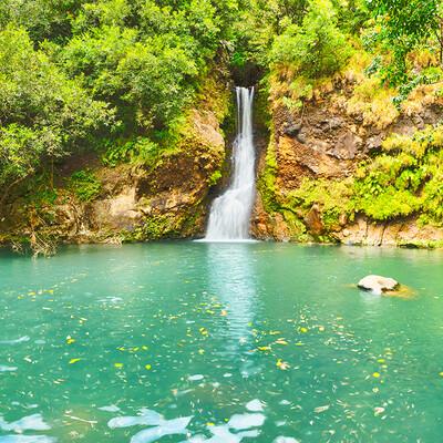Mauricijus, Vodopad Cascade Chamouze , daleko putovanje na Mauricijus
