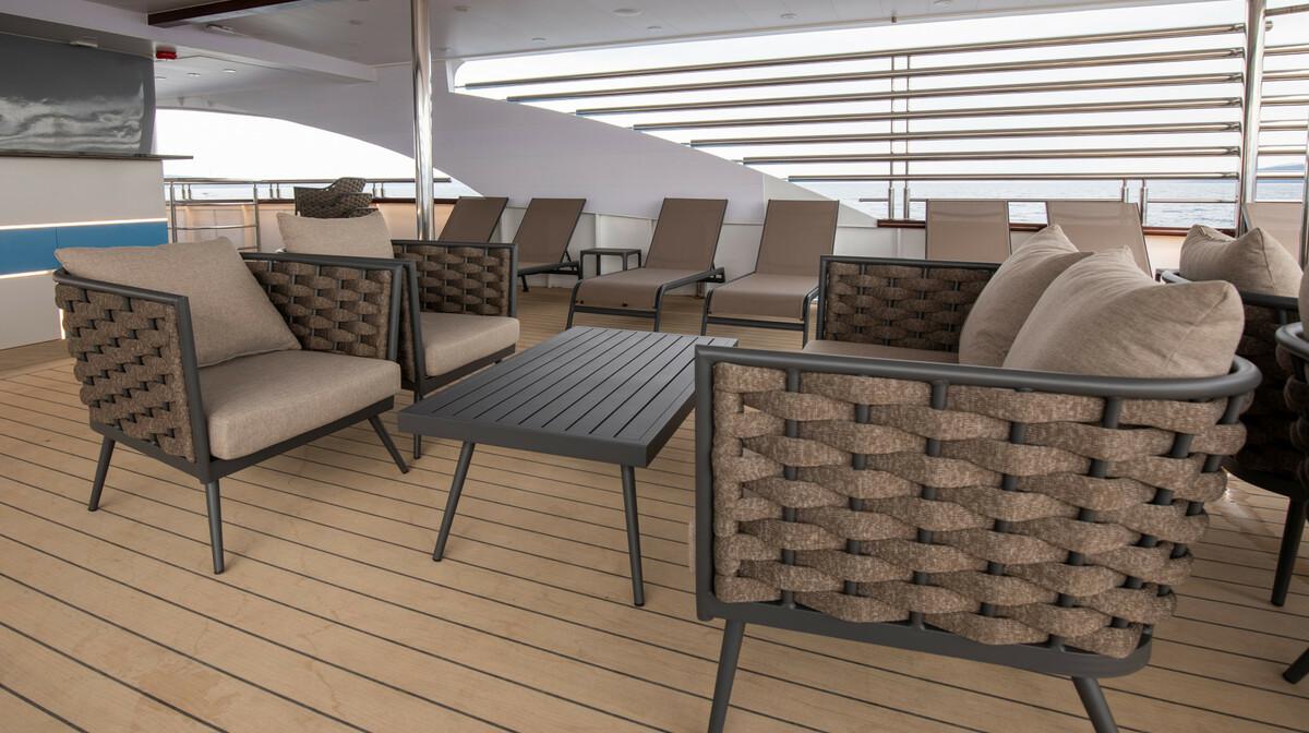 Krstarenje Jadranom luksuznim brodom Freedom - terasa