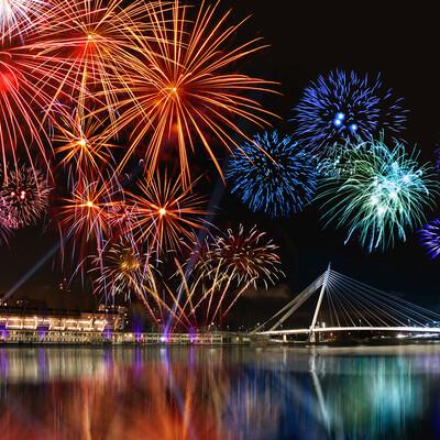 Vatromet, putovanje nova godina u Portugalu