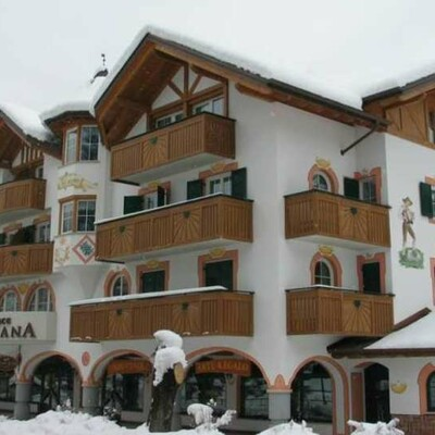 Skijanje u Italiji, Andalo, Apartmani Meridiana, pogled izvana