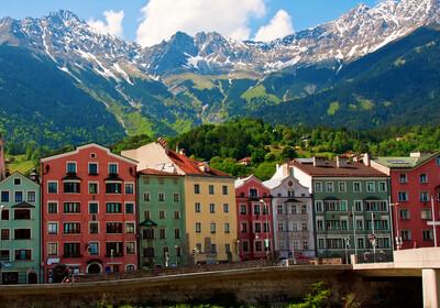 Šarene fasade u Innsbrucku, putovanje autobusom, srce Tirola, Mondo travel