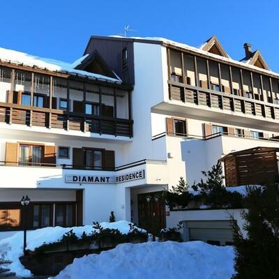 Skijanje u Italiji, skijalište Andalo/Paganella, apartmani Diamant, pogled izvana