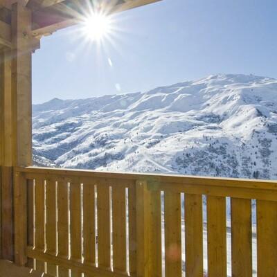 Skijanje u Francuskoj, Valmeinier, Résidence Le Vermont, terasa.