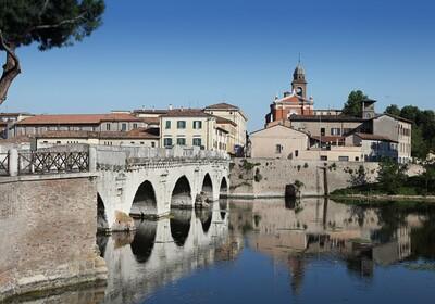 putovanje u italiju, Tiberijev most Rimini