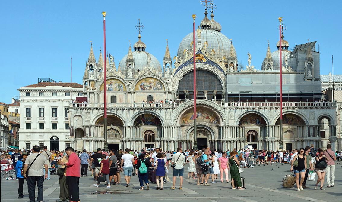 Italija, Venecija- bazilika Sv. Marka na Trgu Sv. Marka