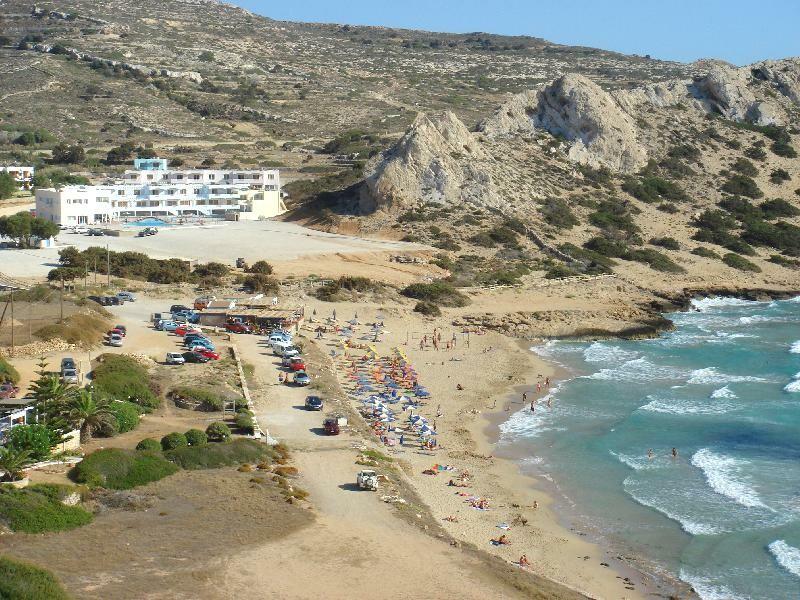 ljetovanje, Karpatos, Arkasa, Aparthotel Royal Beach, pogled na hotel i plažu