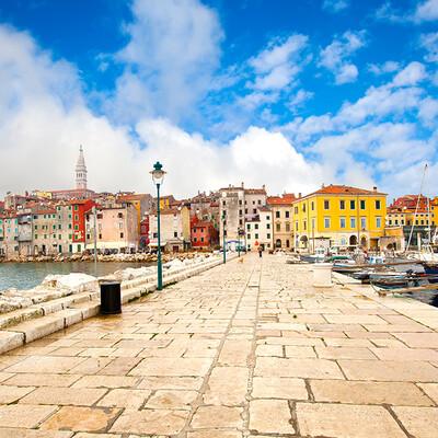 Hrvatska, Istra, Poreč, pogled na grad, grupni polasci, putovanja autobusom u Istru