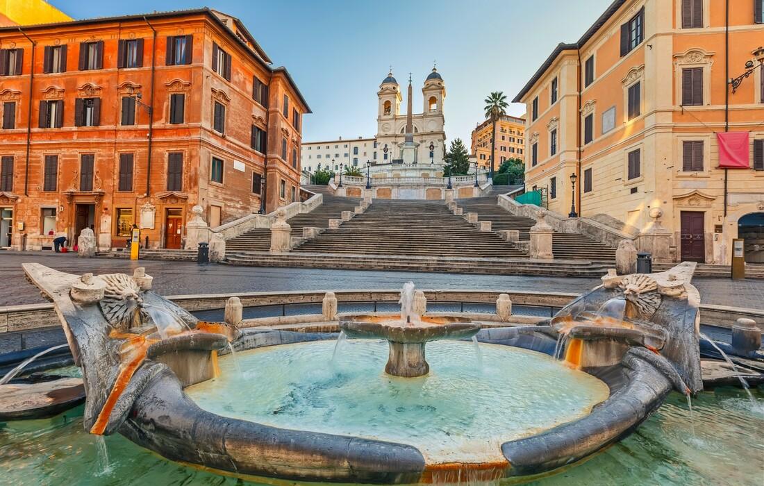 Rim Piazza di Spagna, putovanje u Rim zrakoplovom iz zagreba i Splita, garantirani polasci