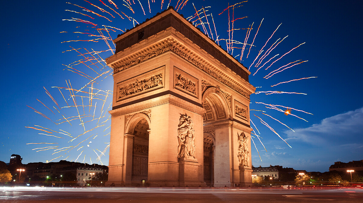 Vatromet iznad Slavoluka pobjede, Nova godina u Parizu