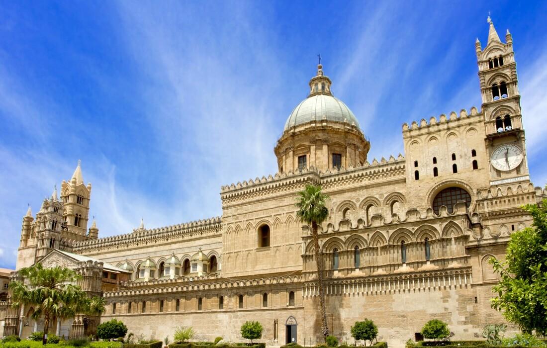 Katedrala u Palermu, putovanje zrakoplovom na siciliju