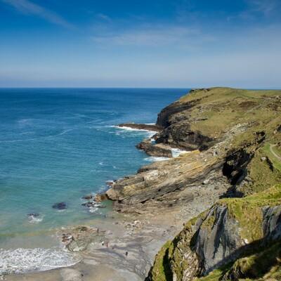 putovanje engleskom Cornwall Tintagel beach