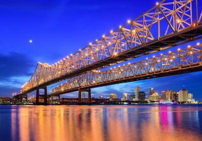 mostovi blizanci Crescent City Connection, tura SAD-om, vođene ture, garantirani polasci