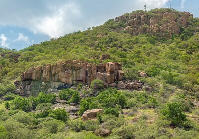 Bocvana, brdo iznad grada Gaborone