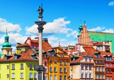 Stari grad u Varšavi, autobusna putovanja, putovanja zrakoplovom, Mondo travel, europska putovanja