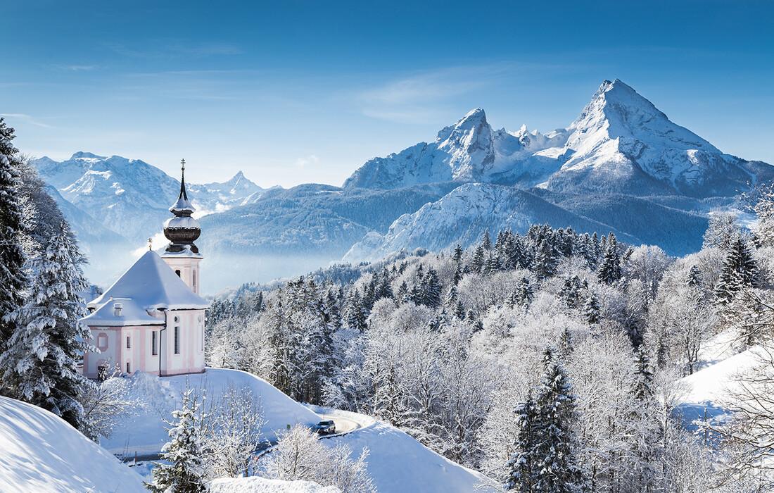 Bavarski dvorci, zima