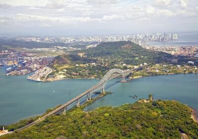 Panama, Panamski kanal, Bridge of the Americas, daleko putovanje zrakoplovom, grupni polasci