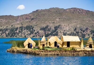 Peru, Titicaca jezero, Plutajući otoci Uros