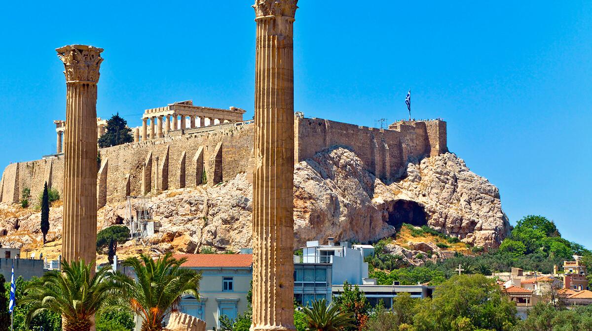 pogled na Akropolu, putovanje zrakoplovom, Mondo travel, arantirano putovanje, krstarenje