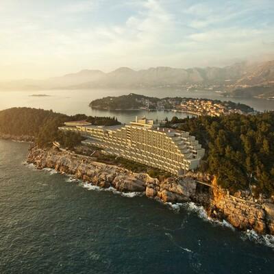 Cavtat, Hotel Croatia, panorama