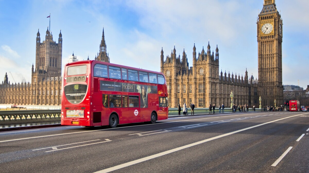 Putovanje u London,  Westminster most sa parlamentom i Big Benom