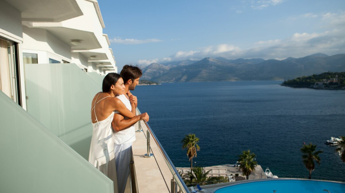 Premium soba u hotelu Lafodia Sea Beach na otoku Lopudu.