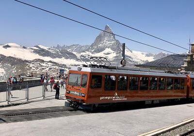 Gornergrat vlak od Zermatta do Gornergrata, skijanje Zermatt, putovanje Švicarska