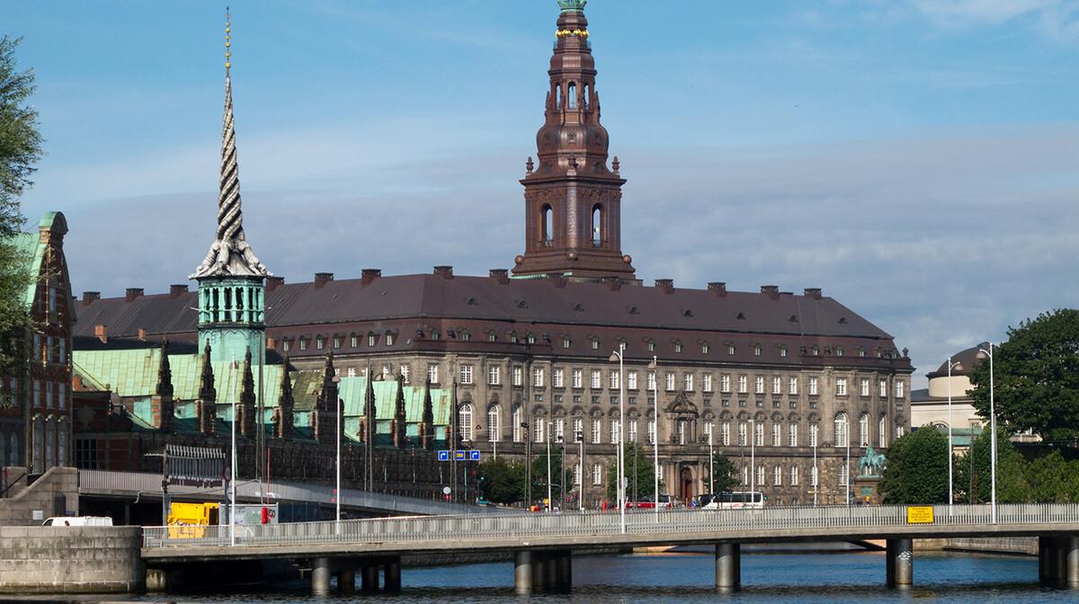 Palača Christiansborg iz 18 st.,sjedište danskog parlamenta