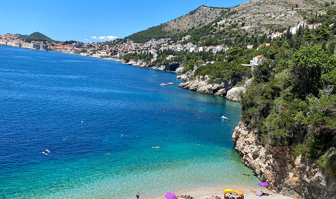 Dubrovnik , plaža Sv.Jakov, upoznajmo Hrvatsku , mondo travel, autobusna putovanja ,