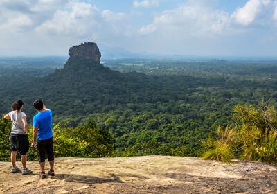 Šri Lanka, Sigiriya, pogled sa stijene Pidurangala
