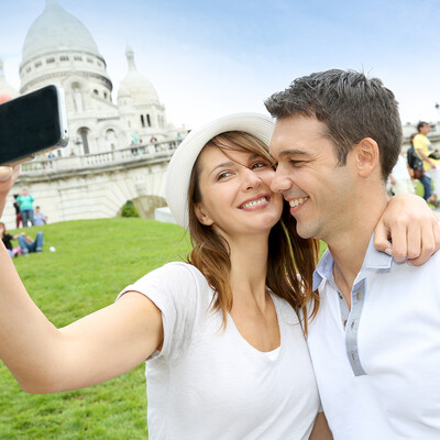 Selfie na Montmartru, Pariz putovanje