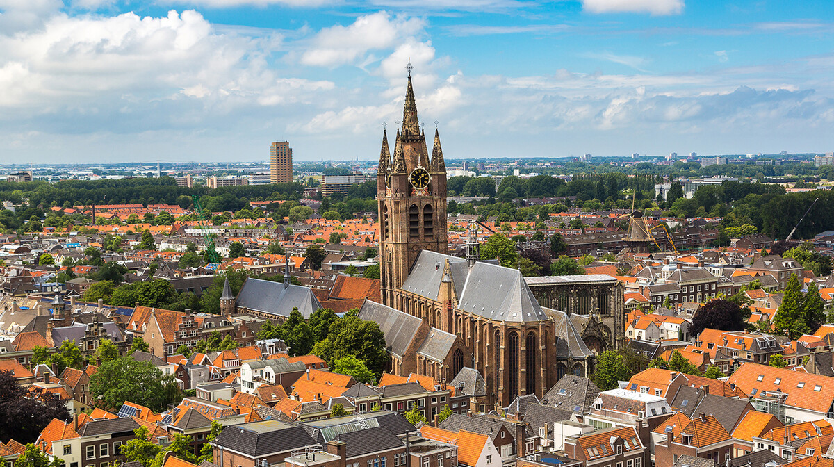 Visoki toranj Nove crkve u Delftu, putovanje Amsterdam i nizozemska tura