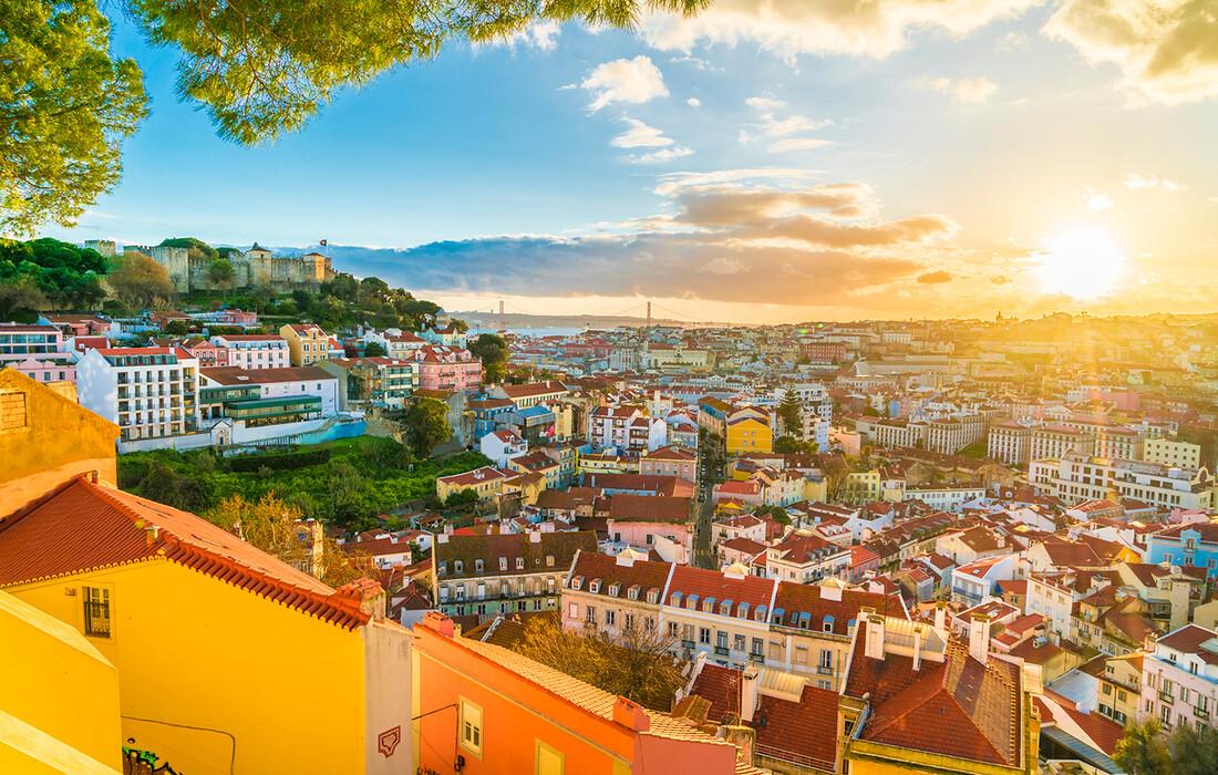 Panorama Lisabona, putovanje u Portugal