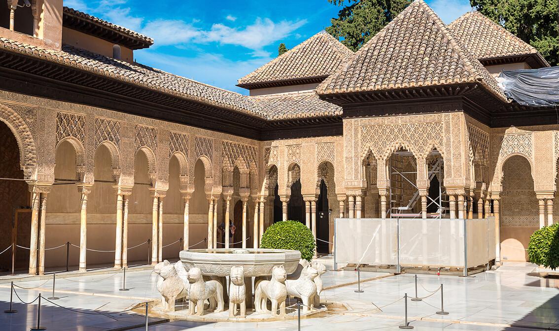 Zlatno dvorište u Alhambri, Granada, putovanje Andaluzija, vođene ture, putovanje avionom