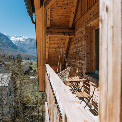 Bohinj,Apartmani Triglav,balkon pogled