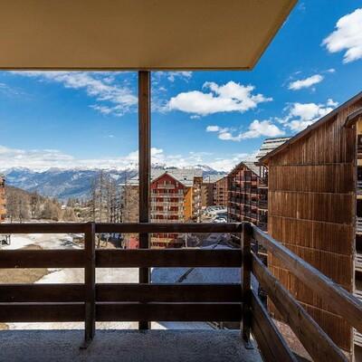 Skijanje u Francuskoj, Risoul, Residence Castor & Pollux, terasa.