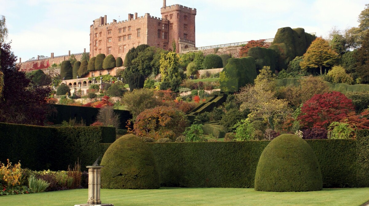 Wales - Vrt dvorca Powis