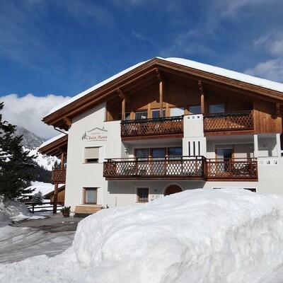 Skijanje u Italiji, Alta Badia, San Leonardo, Apartman Chalet Maria, pogled izvana