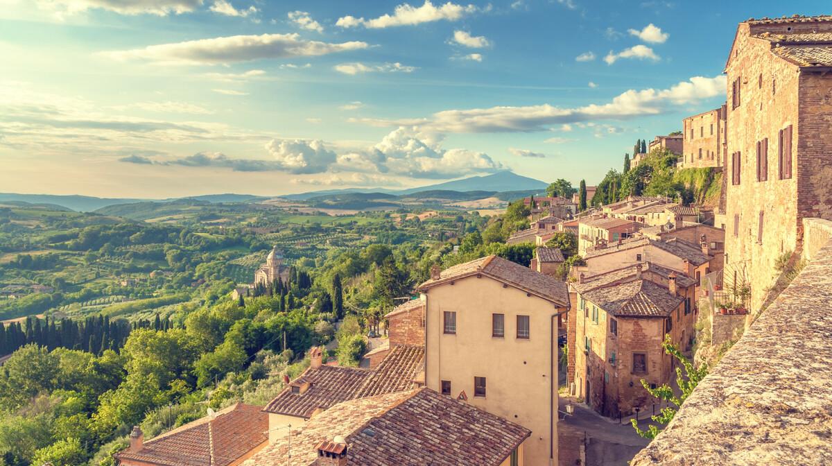 Montepulcano gradić u Toskani, putovanje u Toskanu