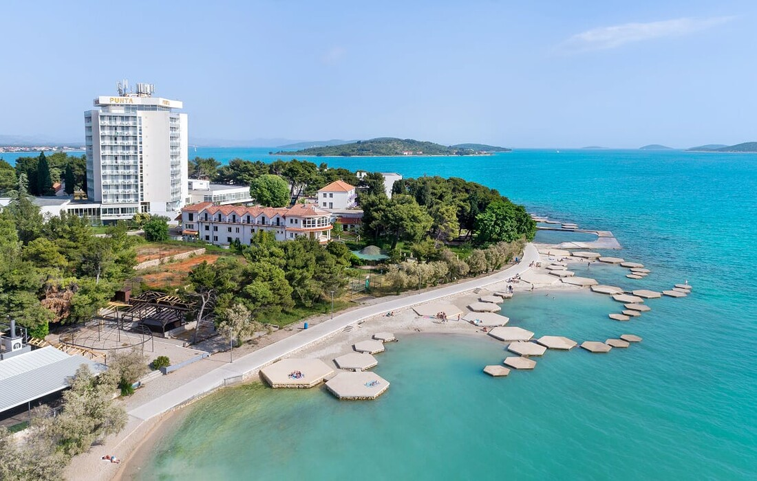 Vodice, Hotel Punta, plaža