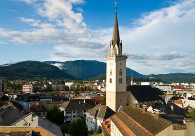panoramski pogled grada Villacha, autobusna putovanja, Mondo travel, europska putovanja