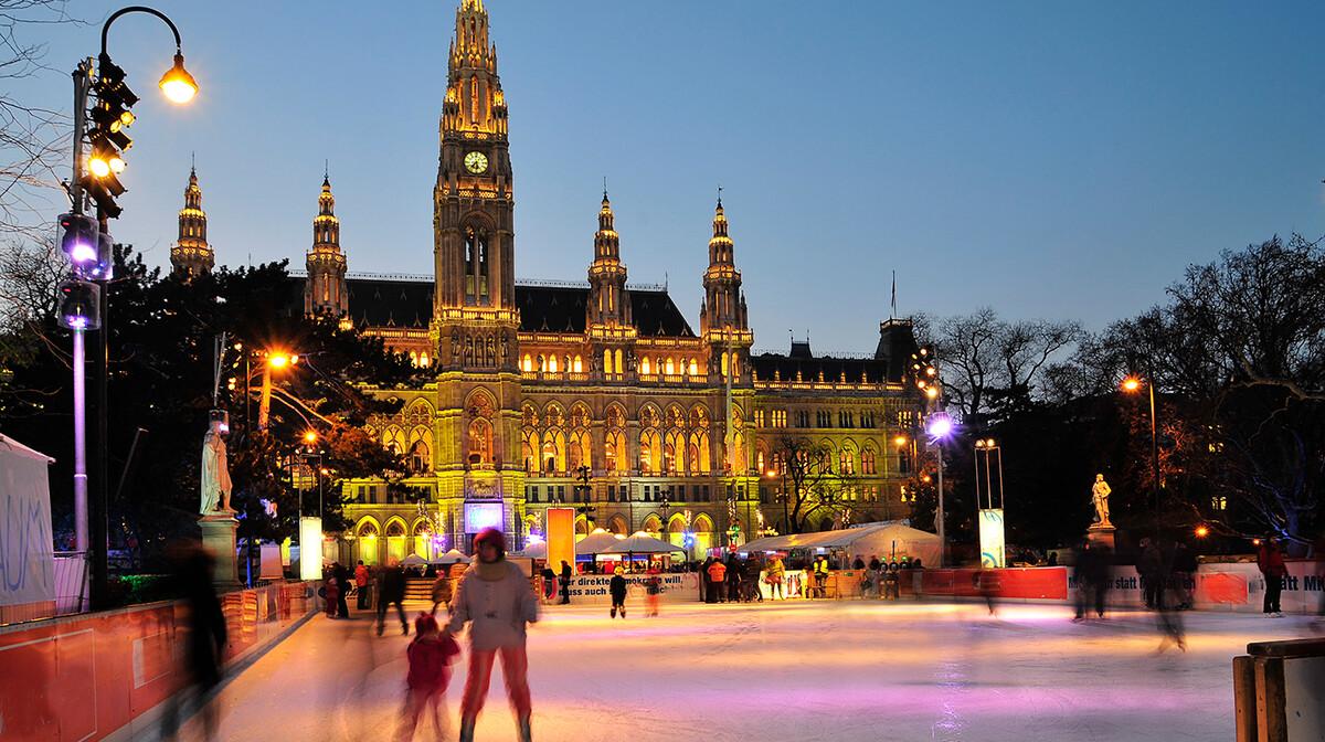 advent u Beču, klizalište ispred gradske vijećnice, garantirani polasci