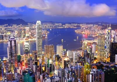Noćna panorama Hong Kong, putovanje Hong Kong, Azija, vođene ture, garantirani polasci