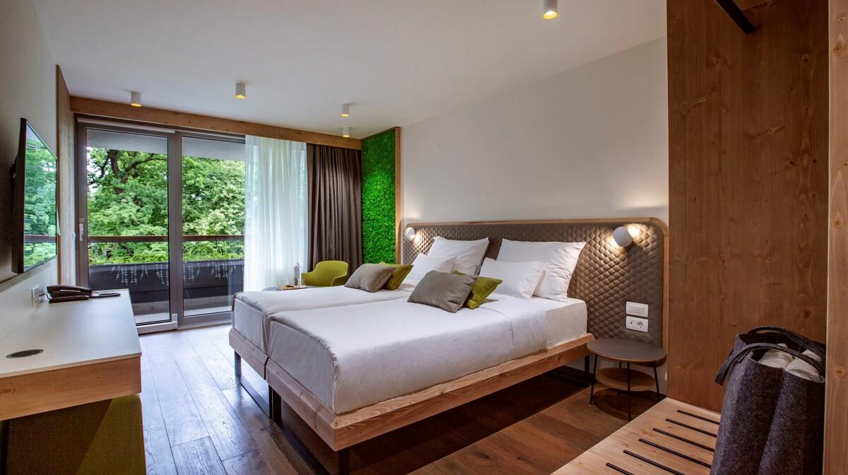 Skijanje i wellnes u Sloveniji, Hotel Park, spavaća soba